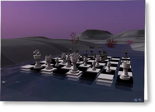 Greeting Card featuring the digital art Chess by Susanne Baumann