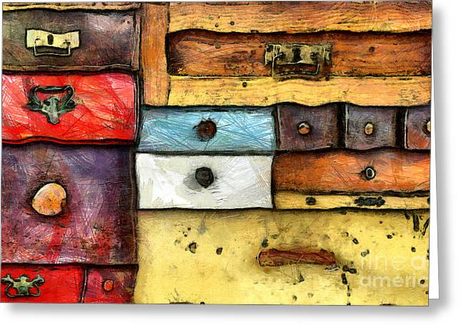 Chest Of Drawers Greeting Card by Michal Boubin