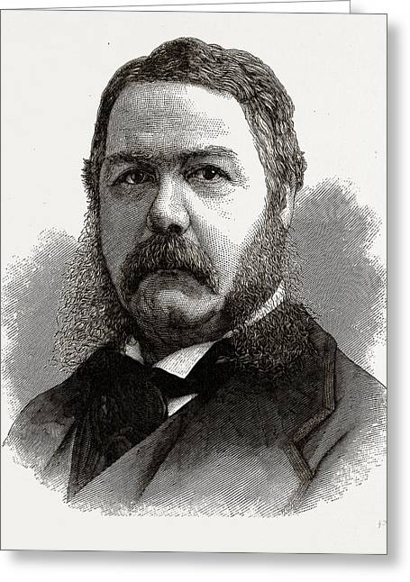 Chester A. Arthur, Vice-president-elect Of The United States Greeting Card by Litz Collection