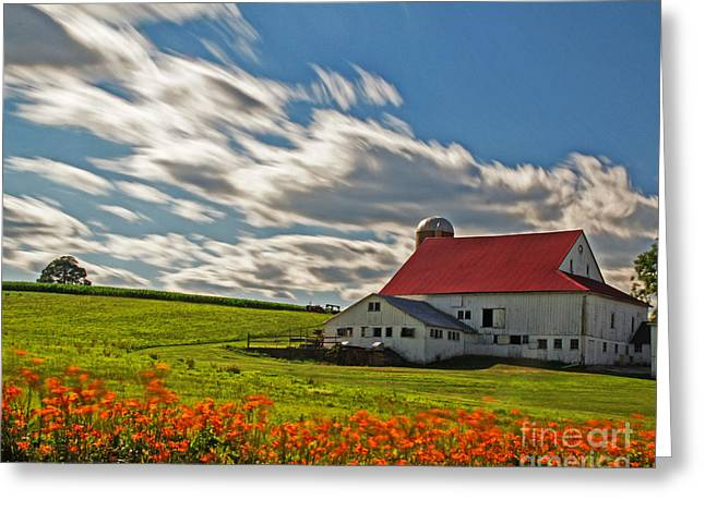 Chester County Farm 2 Greeting Card