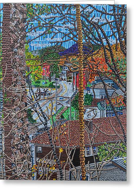 Chestnut Street From Clinton Street Greeting Card by Micah Mullen