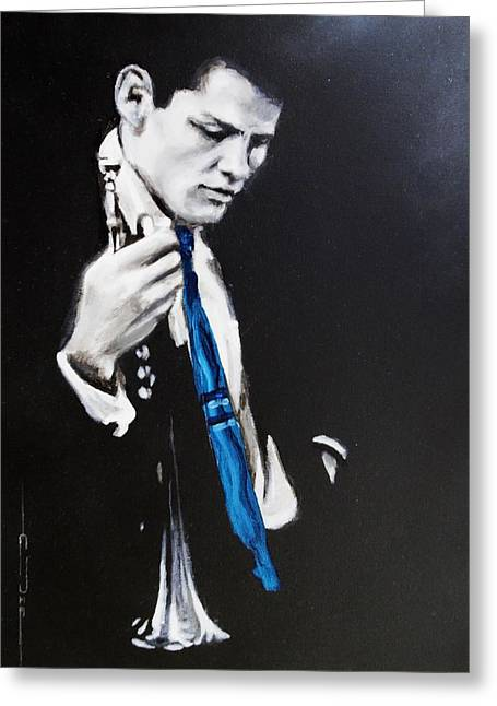 Chet Baker - Almost Blue Greeting Card by Eric Dee
