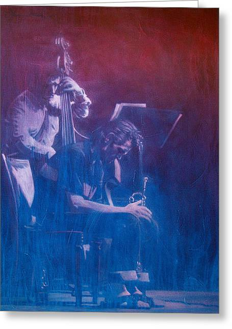 Chet Baker Greeting Card by Frans Mandigers