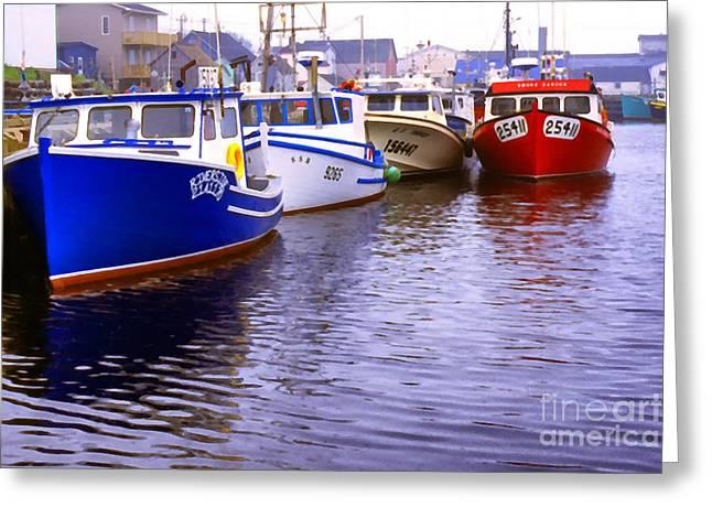 Cheticamp Dock Greeting Card by Thomas R Fletcher
