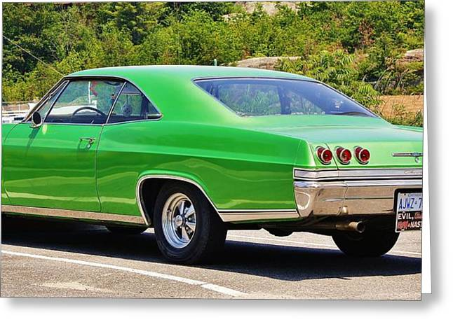 Greeting Card featuring the photograph Chev Impala by Al Fritz