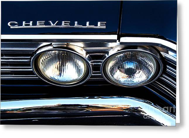 Chevelle Headlight Greeting Card by Jerry Fornarotto
