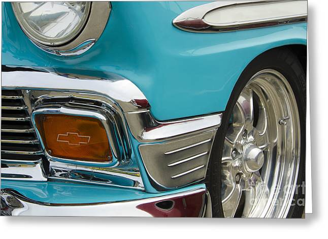 Chevrolet Beauty Of Design Greeting Card by Bob Christopher