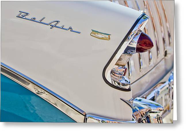 Chevrolet Bel-air Taillight Greeting Card by Jill Reger