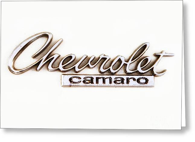 Chevrolet Camaro Emblem Greeting Card by Jerry Fornarotto