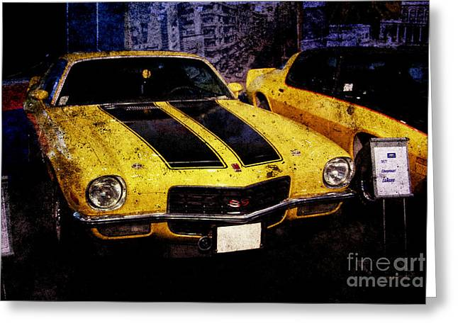 Greeting Card featuring the photograph Chevrolet Camaro by Mohamed Elkhamisy