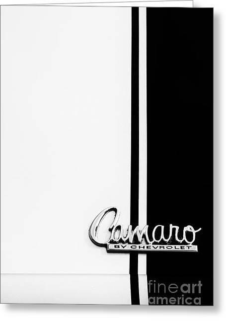 Chevrolet Camaro Monochrome Greeting Card