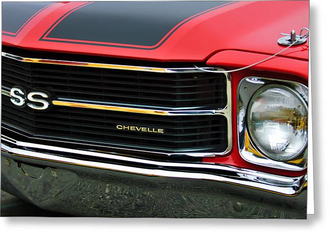 Chevrolet Chevelle Ss Grille Emblem Greeting Card by Jill Reger