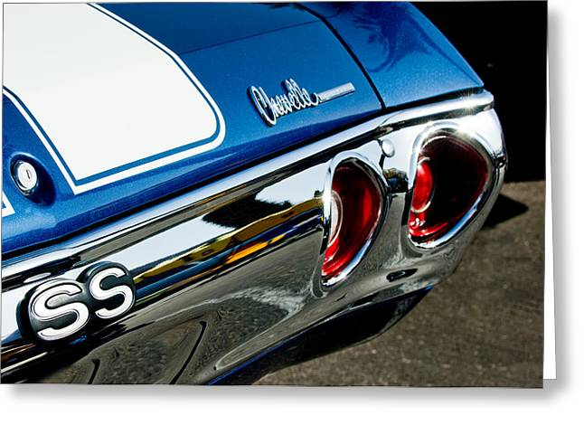 Chevrolet Chevelle Ss Taillight Emblem -0158c Greeting Card by Jill Reger