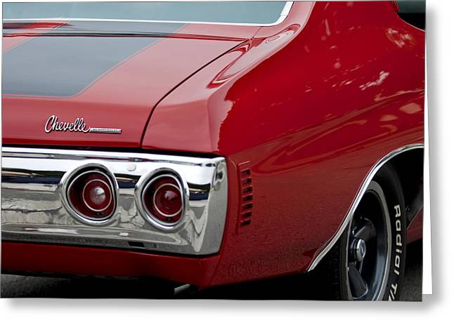 Chevrolet Chevelle Ss Taillight Emblem 3 Greeting Card by Jill Reger