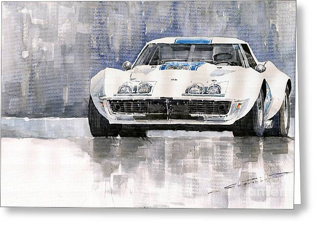 Chevrolet Corvette C3 Greeting Card by Yuriy  Shevchuk