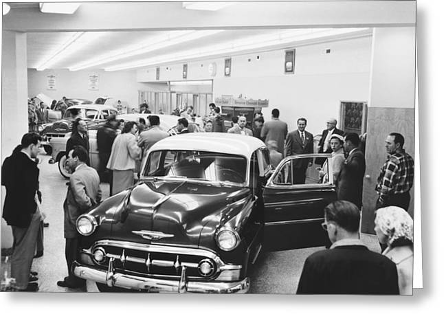 Chevrolet Dealer Greeting Card by Underwood Archives