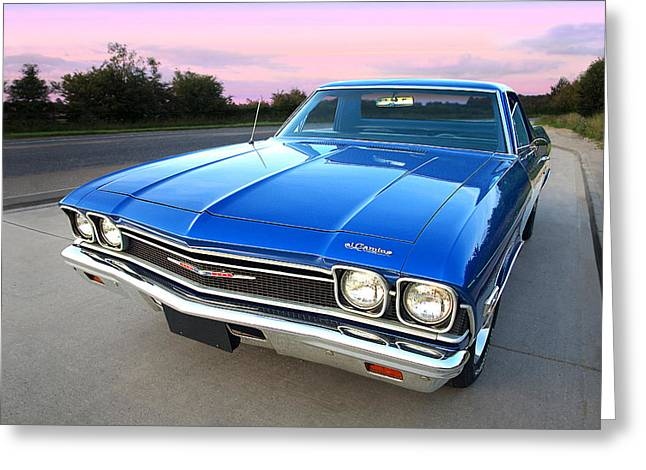 Chevrolet El Camino At Sunset Greeting Card
