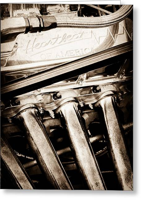 Chevrolet Engine - Heartbeat Of America Greeting Card