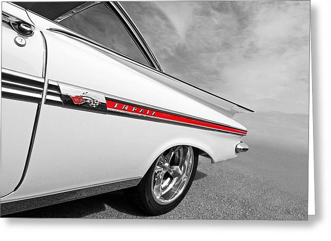 Chevrolet Impala 1959 Greeting Card by Gill Billington
