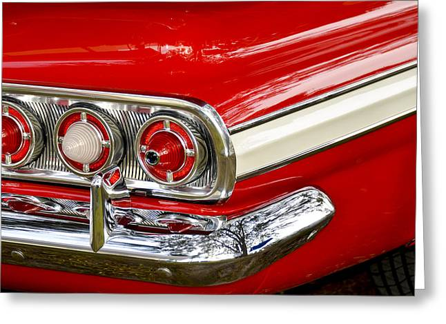 Chevrolet Impala Classic Rear View Greeting Card by Carolyn Marshall