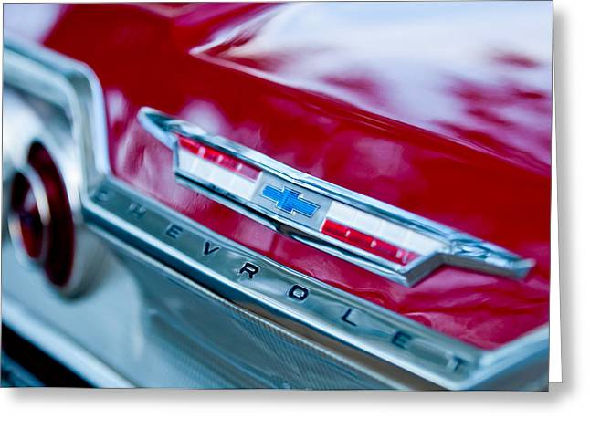 Chevrolet Impala Emblem 3 Greeting Card by Jill Reger