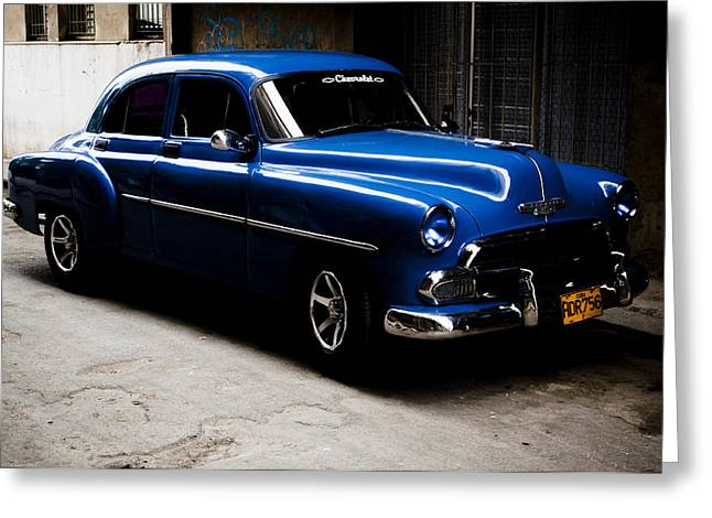 Chevrolet In Havana Greeting Card by Dan  Grover