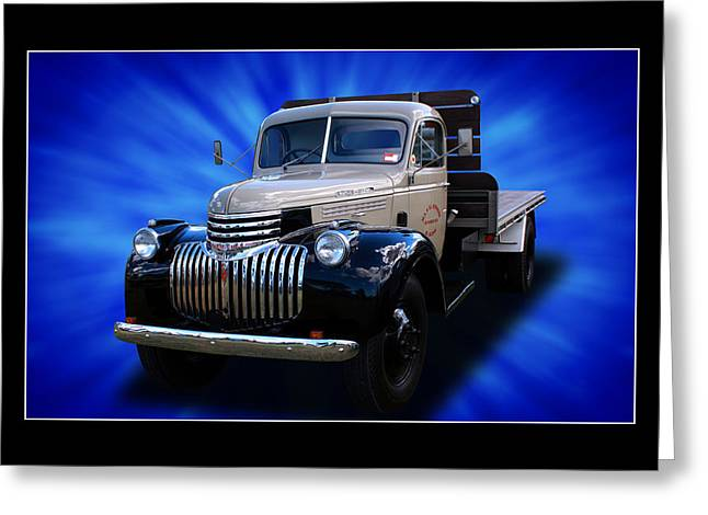 Greeting Card featuring the photograph Chevrolet Maple Leaf Truck by Keith Hawley