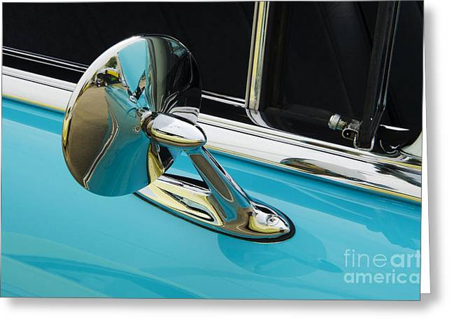 Chevrolet Mirror Beauty Of Design Greeting Card by Bob Christopher