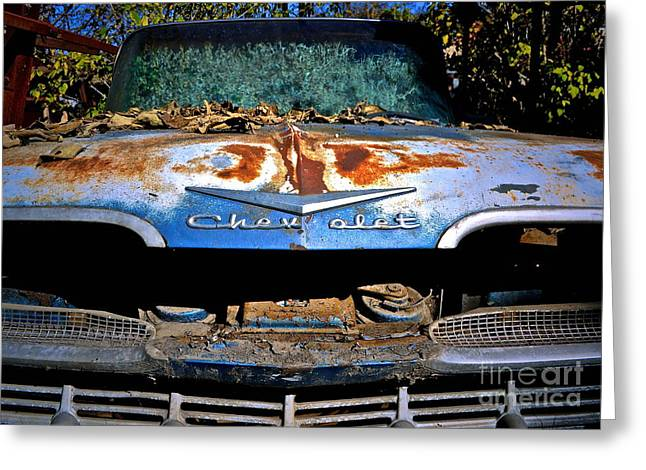Chevrolet Picking Greeting Card by Gwyn Newcombe