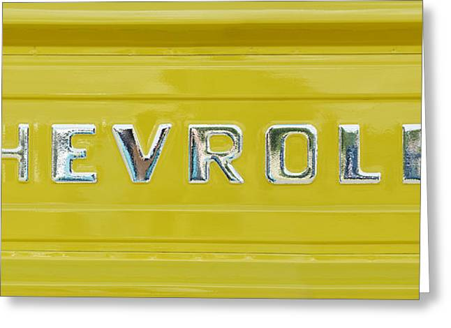 Chevrolet Pickup Tailgate Greeting Card