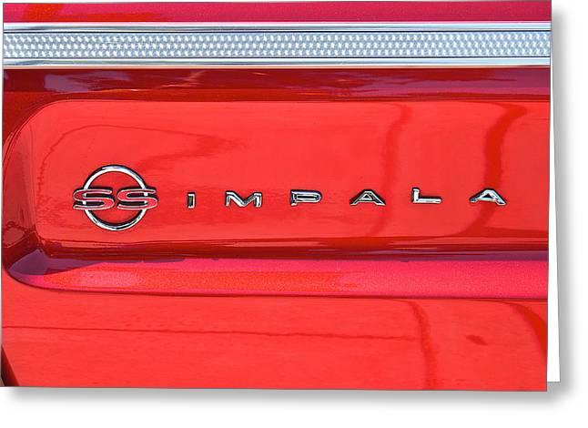 Chevrolet Ss Impala Id Greeting Card