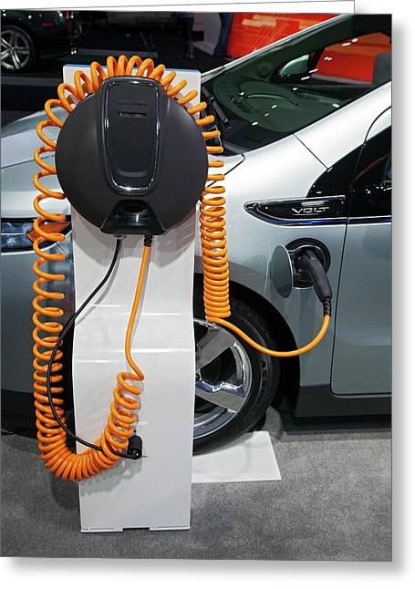 Chevrolet Volt Electric Car Greeting Card