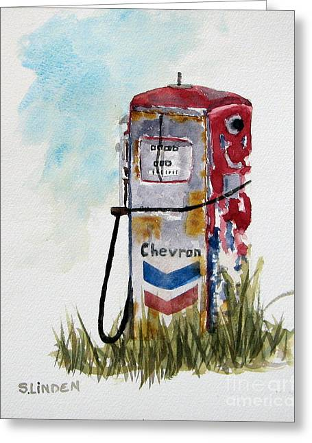 Chevron Greeting Card by Sandy Linden