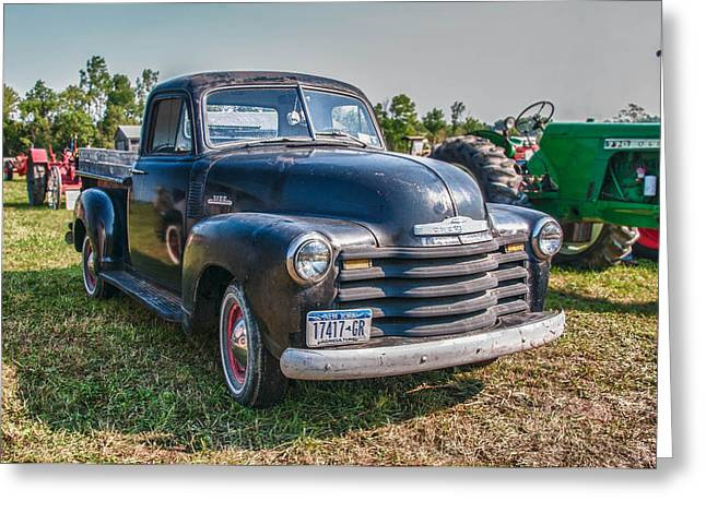 Chevy 1100 Greeting Card by Guy Whiteley