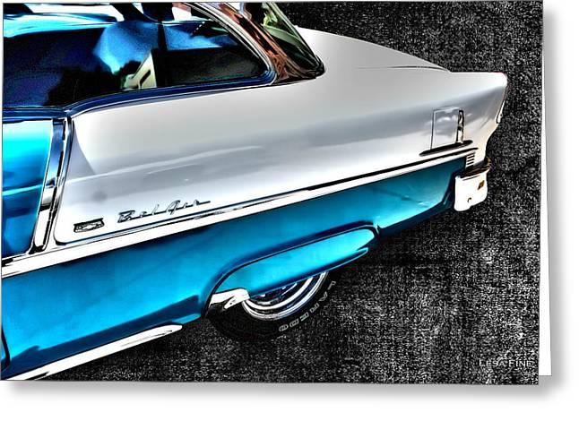 Chevy Bel Air Art 2 Tone Side View Art 1 Greeting Card