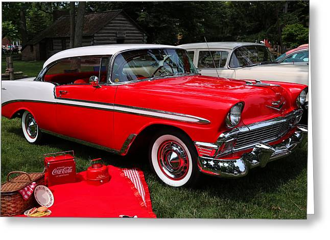 Chevy Bel Air In Red Greeting Card