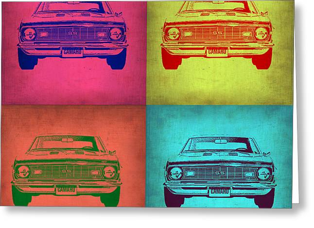 Chevy Camaro Pop Art 1 Greeting Card