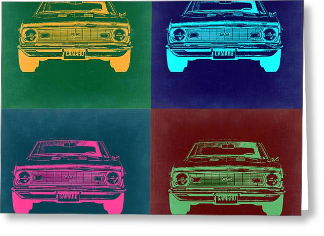 Chevy Camaro Pop Art 2 Greeting Card
