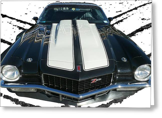Chevy Camaro Z28 Greeting Card by Steve Taylor