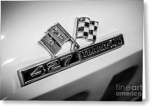 Chevy Corvette 427 Turbo-jet Emblem Greeting Card by Paul Velgos