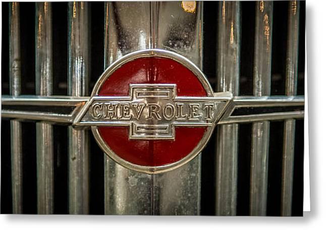 Chevy Emblem Greeting Card by Paul Freidlund