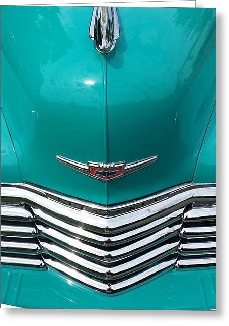 Chevy Fleetmaster Front Closeup Greeting Card by Mark Victors