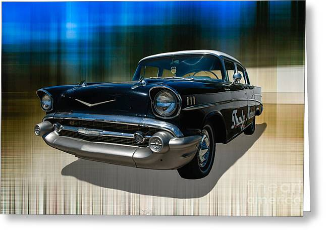 Chevy Greeting Card by Hannes Cmarits