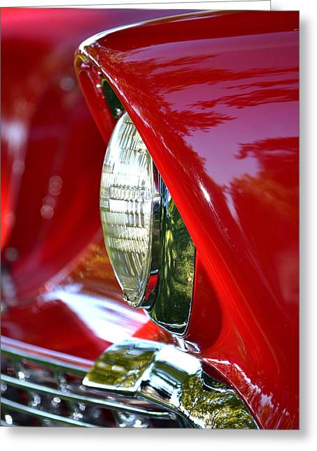Chevy Headlight Greeting Card