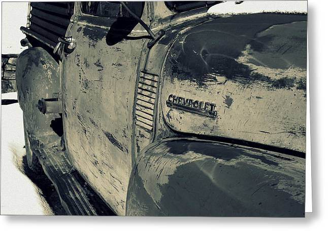 Arroyo Seco Chevy In Silver Greeting Card