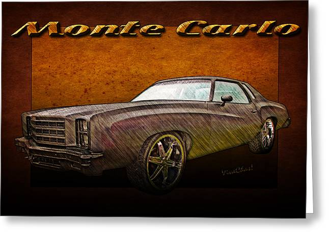 Chevy Monte Carlo Poster Greeting Card