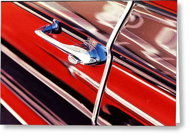 Greeting Card featuring the photograph Chevy Or Caddie? by Ira Shander