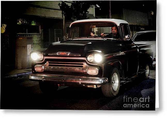 Chevy Pickup Truck Greeting Card by Nina Prommer