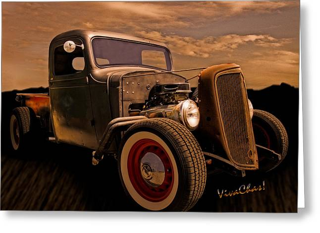 Chevy Rat Rod Pickup 1936 Greeting Card
