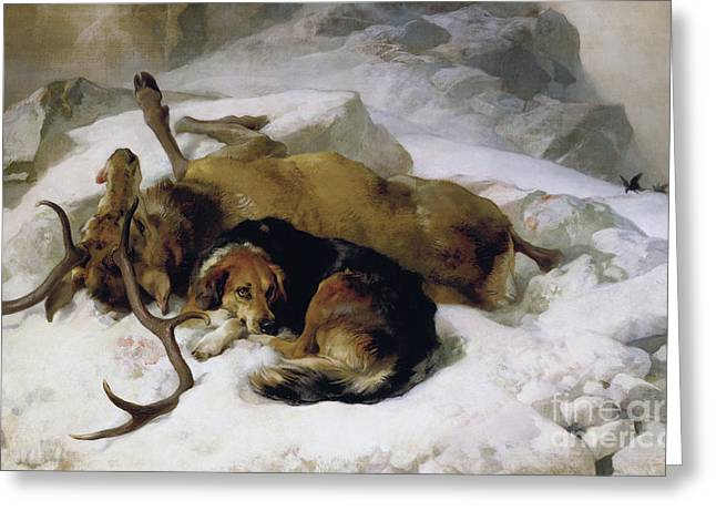 Chevy Greeting Card by Sir Edwin Landseer
